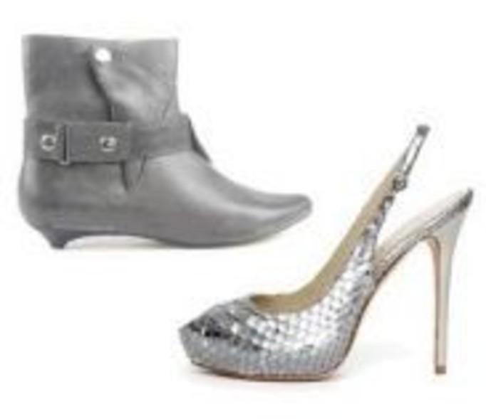 Buty - ekstrawaganckie srebro czy stonowana szarość?