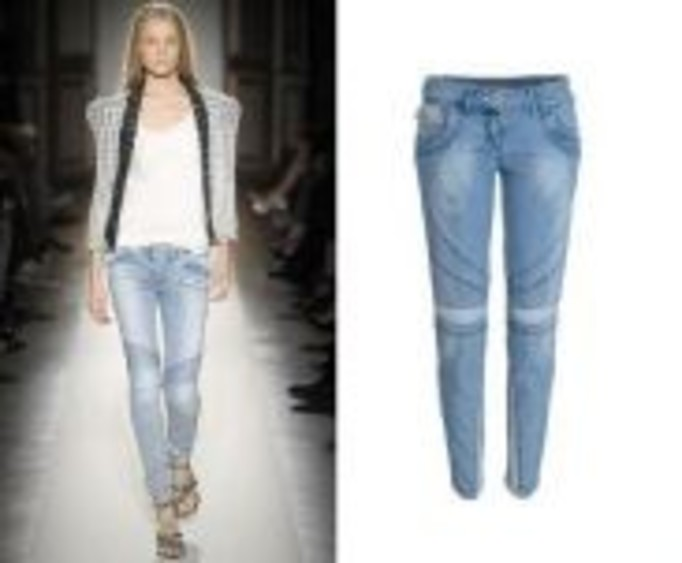 Patchworkowe jeansy: Balmain VS River Island
