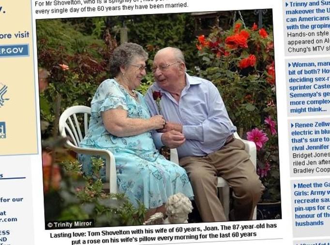 Codziennie wręcza żonie różę! Od 60 lat!