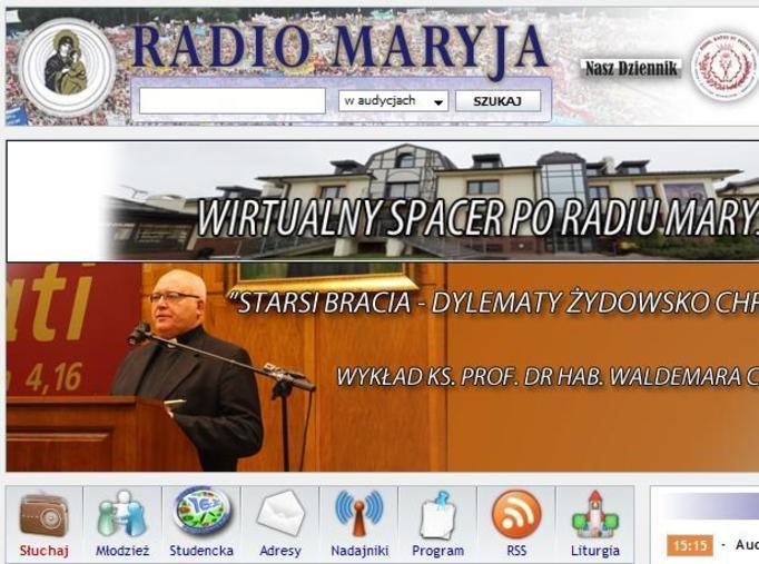 Radio Maryja, strona internetowa