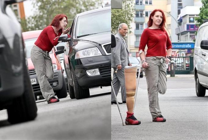 Jednonoga prostytutka na ulicach Berlina!