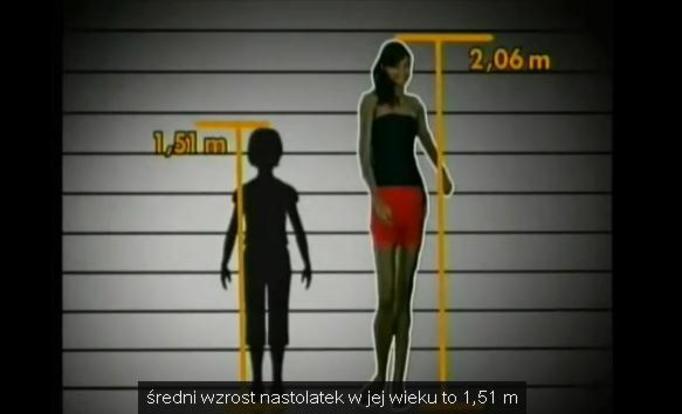 VIDEO NA DZIŚ: Piękna 14-latka mierzy 206 cm!