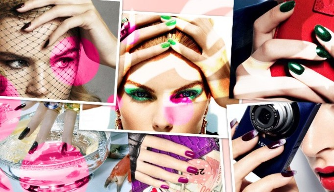 WASZE PAZNOKCIE: Fioletowy francuski manicure