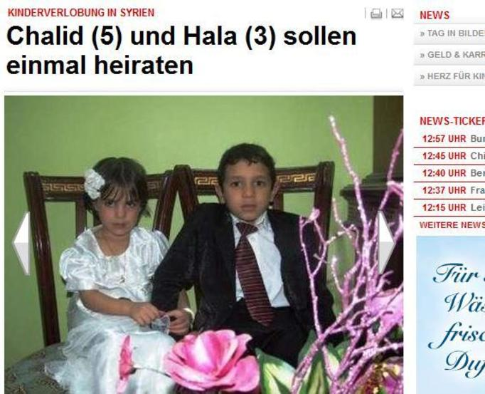 5-letni chłopiec i 3-letnia dziewczynka z Syrii zaręczeni!