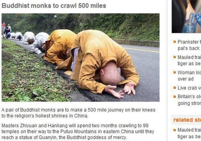 800 kilometrów na kolanach - pokuta chińskich mnichów