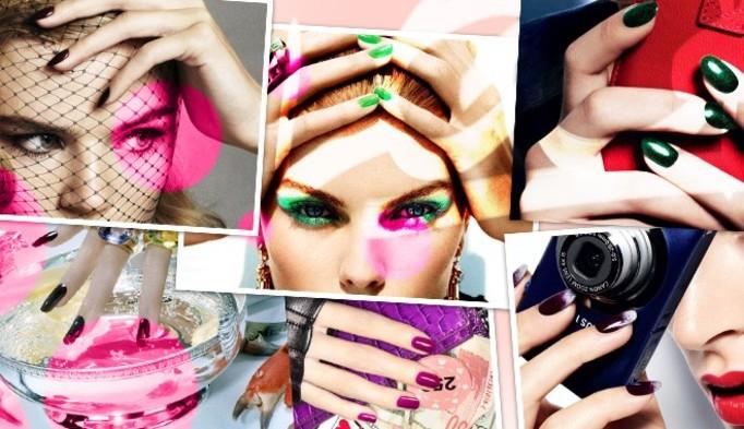 Wasze Paznokcie: Malinowe paznokcie w cętki