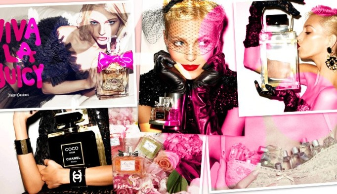 Perfumy we flakonie z wygrawerowanymi inicjałami