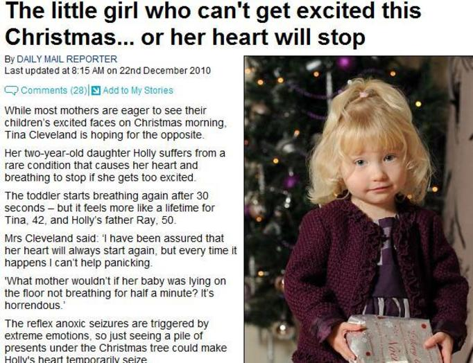 Nie może cieszyć się ze świąt, bo jej serce przestanie bić!