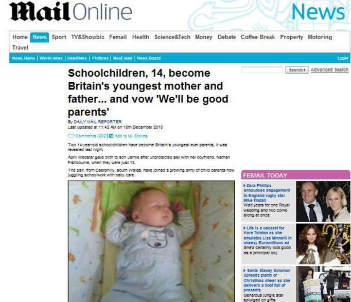 Kolejna 14-latka urodziła dziecko! Tatuś malucha jest jej rówieśnikiem!