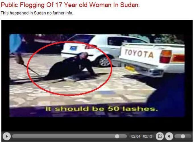 Uliczne biczowanie muzułmanki (Wstrząsający materiał video!)