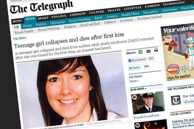 Nastolatka zmarła po pierwszym pocałunku - TO SYNDROM ŚMIERCI DOROSŁYCH!