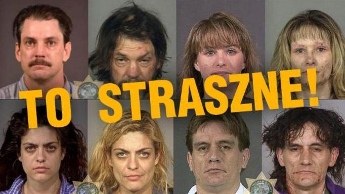 SZOKUJĄCE ZDJĘCIA: Co narkotyki zrobiły z ludzkimi twarzami! NIEPRAWDOPODOBNE!