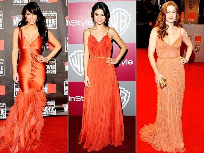 pomarańczowa suknia