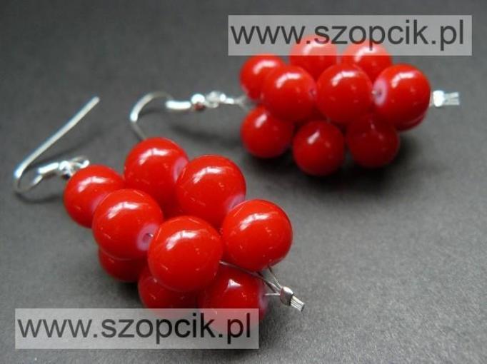 czerwone kolczyki