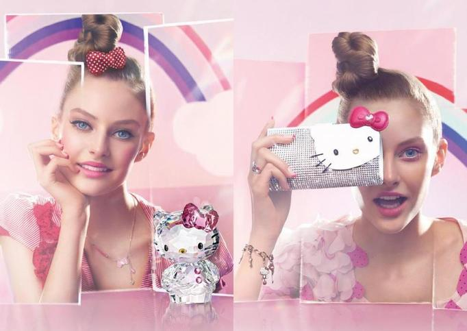 hello kitty dla swarovski