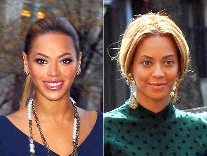 Beyonce bez makijażu