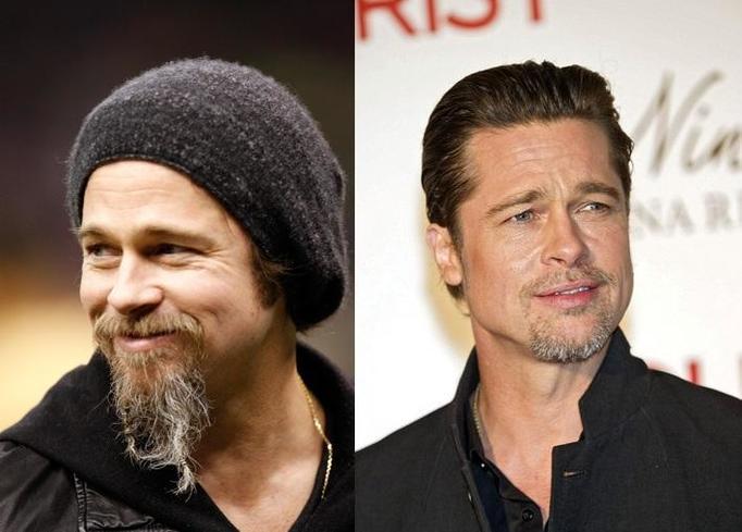 Brad Pitt z brodą