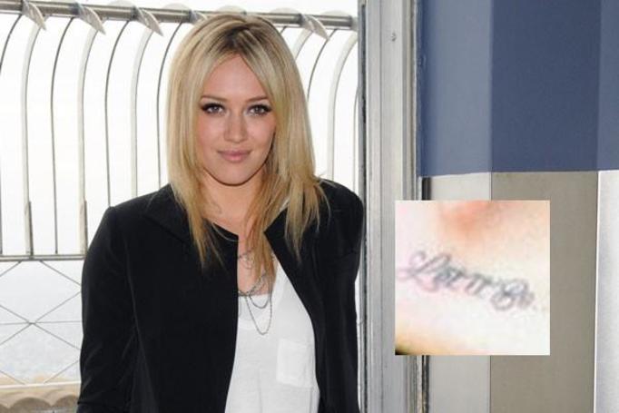 Najgorsze tatua e gwiazd for Hilary duff tattoos