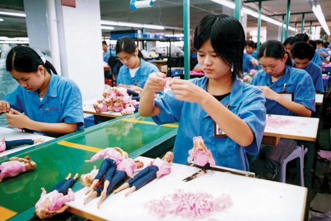 Chińska fabryka zabawek