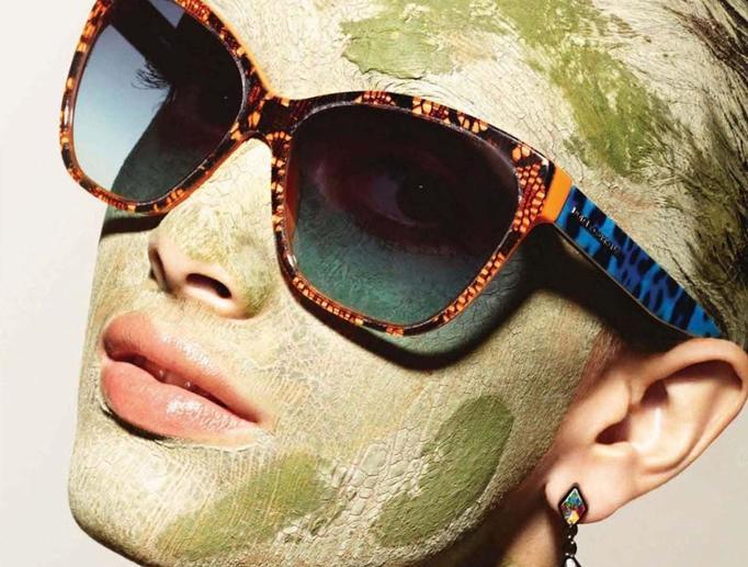 Maska z zielonej glinki