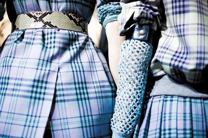 błękitne ubrania