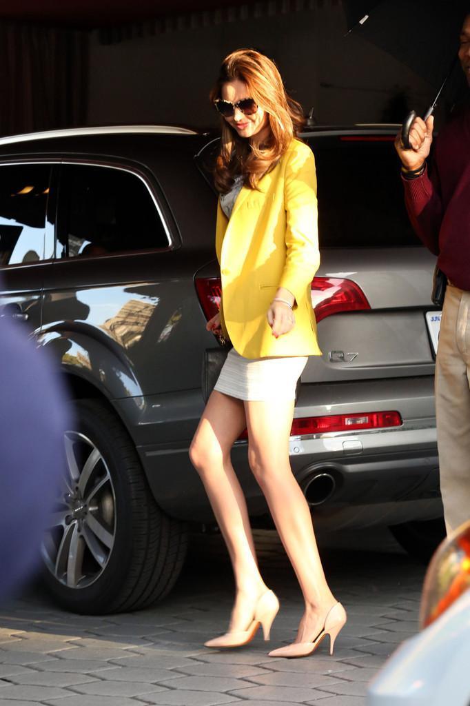 Mirandfa Kerr yellow blazer
