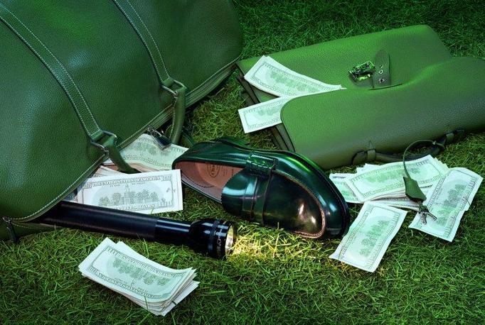 pieniądze na chodniku