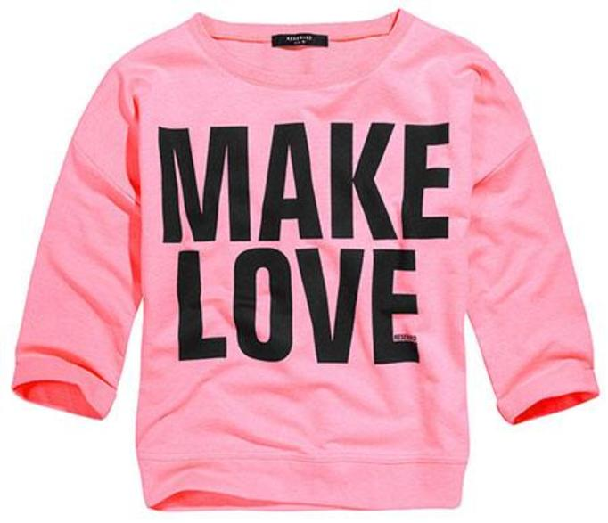 Różowa bluza make love