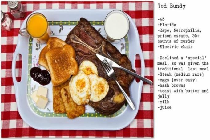 posiłek Teda Bundy`ego