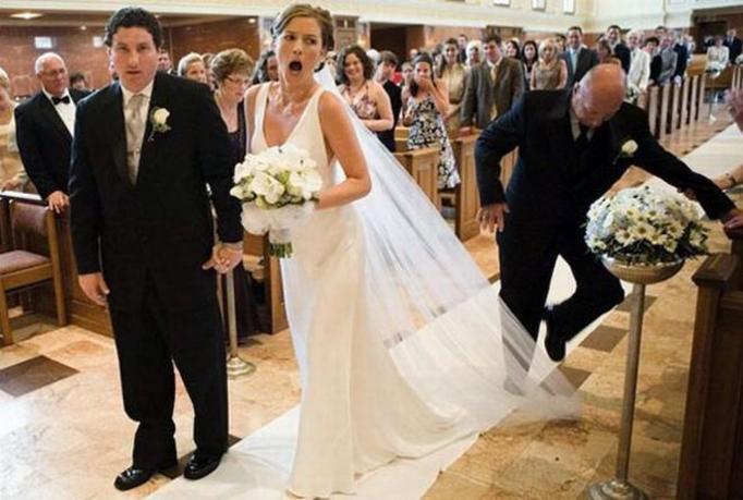 Żenujące fotografie z wesela