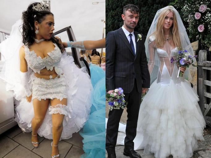 brzydkie suknie ślubne