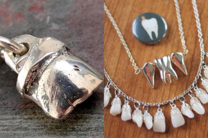 biżuteria z zębów