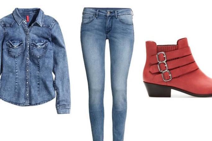 stylizacja z dżinsami