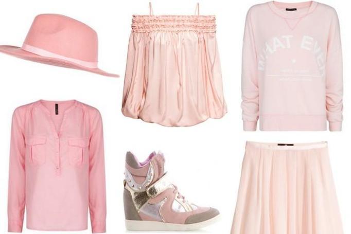 różowe ubrania wiosna 2014