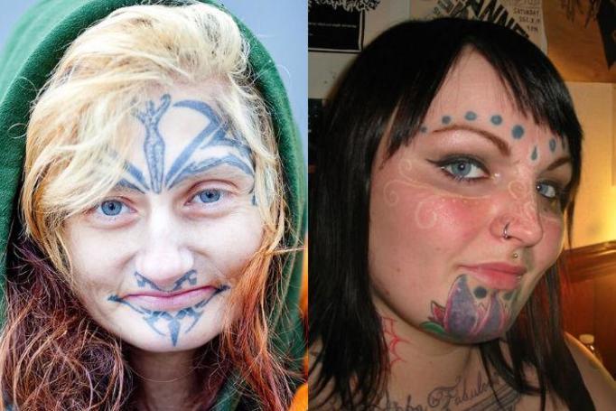 Tatuaż na twarzy