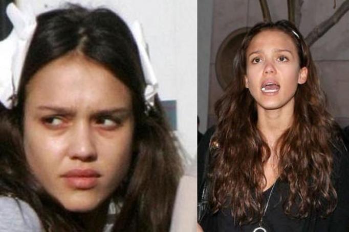Jessica Alba bez makijażu