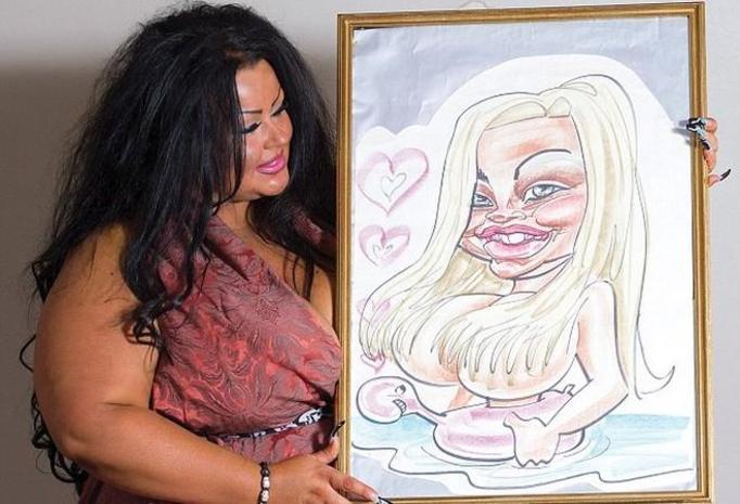 karykatura kobiety