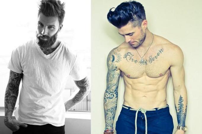 facet z tatuażem