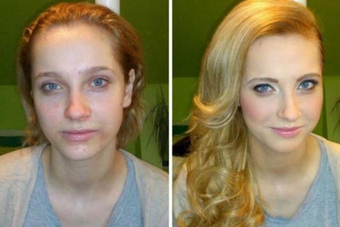 Makijaż – zdjęcia PRZED i PO
