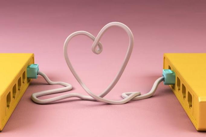miłość przez internet