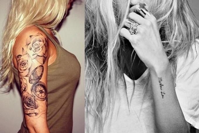 kobiecy tatuaż