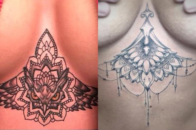 tatuaż na piersiach