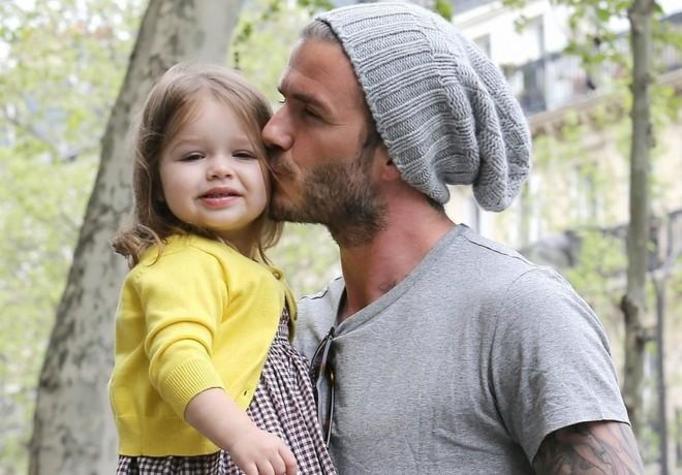 David Beckham z dziećmi