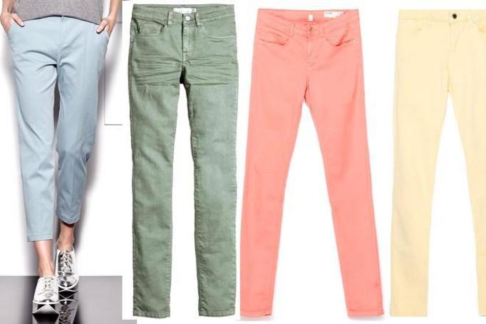 pastelowe spodnie wiosna-latp 2015