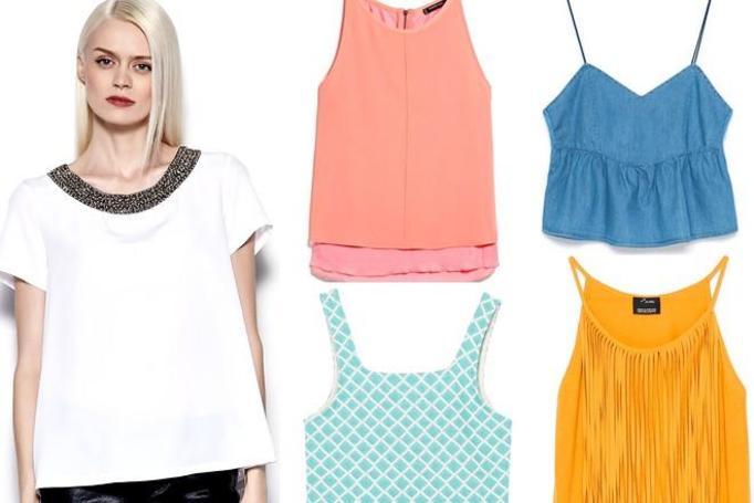 modne bluzki wiosna-lato 2015