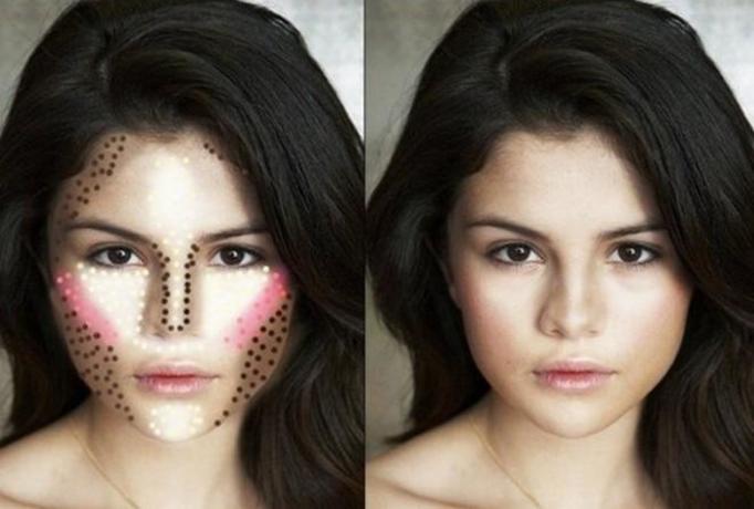 makijaż a kształt twarzy