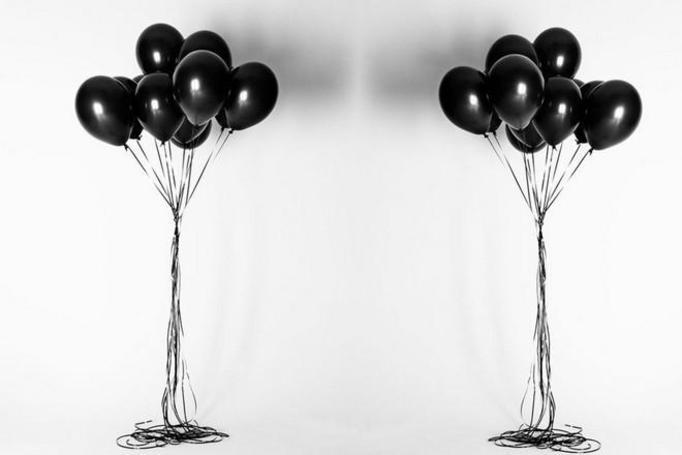 czarne balony