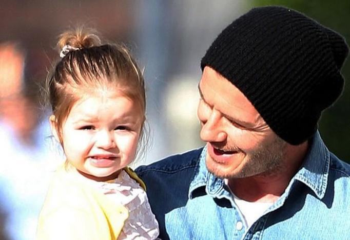 Harper Beckham i David
