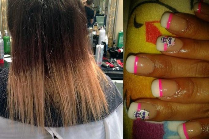 brzydkie włosy i paznokcie