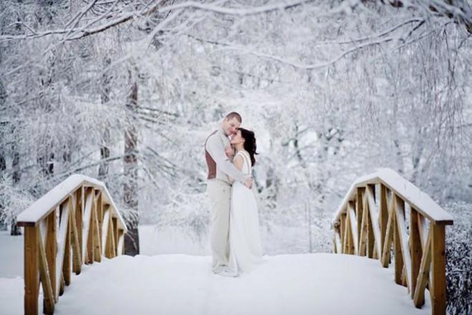 ślub zimą